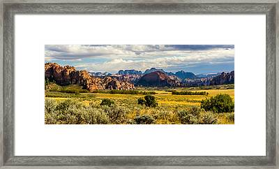 Zion's West Wall From Kolob Terrace Road  Framed Print