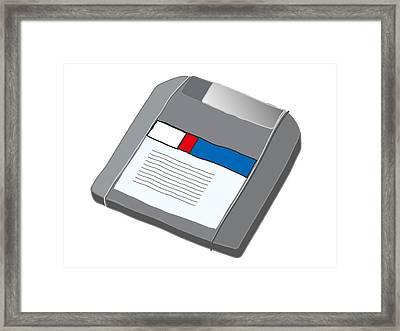 Zip Disk Framed Print