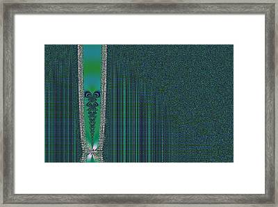 Zipper With Tattoo Framed Print by Thomas Smith