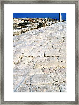 Zippori Roman Capital Of The Galilee Region Framed Print by Thomas R Fletcher