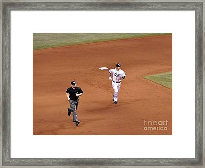 Zobrist On The Run Framed Print by John Black