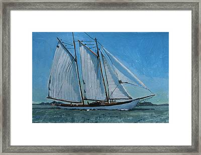 Zodiac Under Way Framed Print by Robert Bissett