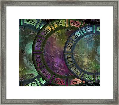 Zodiac Wheel Framed Print by Mindy Sommers