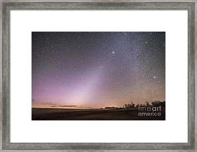 Zodiacal Light In Dawn Sky, Alberta Framed Print by Alan Dyer