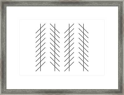 Zoellner Illusion Framed Print by