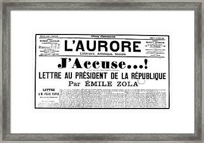Zola: Laurore, 1898 Framed Print