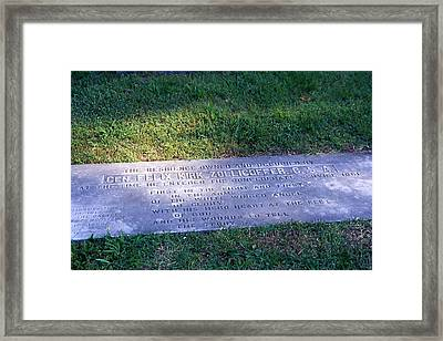 Zollicoffer's Grave Framed Print by Randy Muir