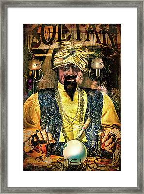 Framed Print featuring the photograph Zoltar by Chris Lord