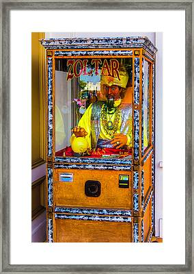 Zoltar Fortune Reader Framed Print by Garry Gay