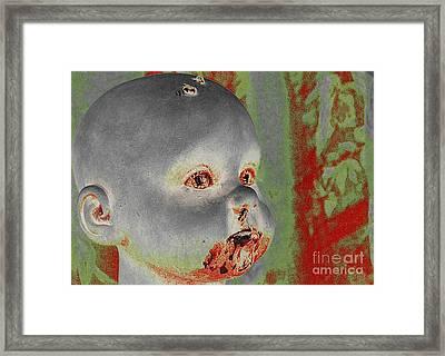Zombie Baby Framed Print