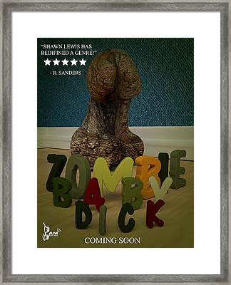 Zombie Baby Dick Framed Print by Robert Sanders