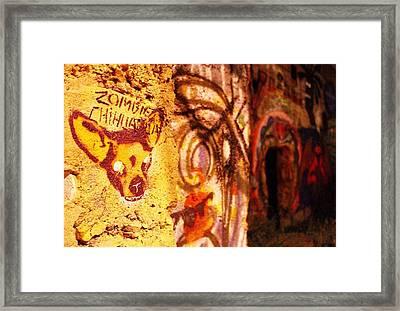 Zombie Chihuahua  Framed Print by Nickolas Ruiz