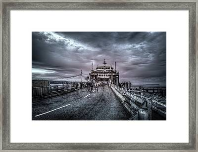 Zombie Ferry Ride Framed Print by Spencer McDonald