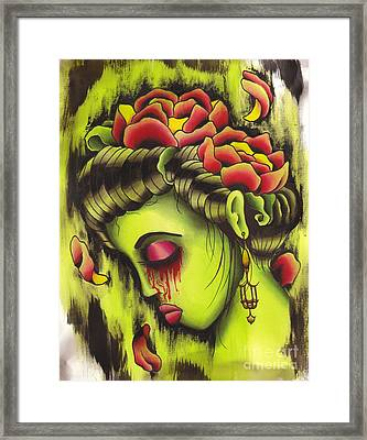 Zombie Girl No2 Framed Print by Lauren B