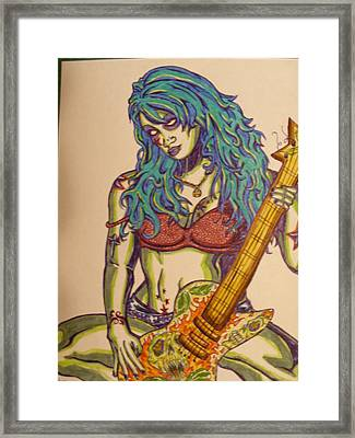 Zombie Guitar Framed Print by Michael Toth