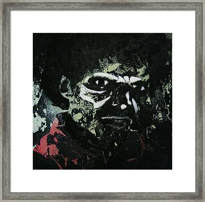 Zombie Jackson Framed Print by Tim Blackburn