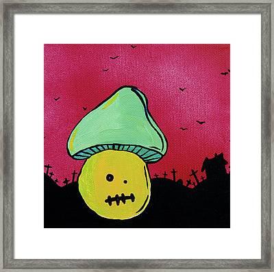 Zombie Mushroom 2 Framed Print by Jera Sky