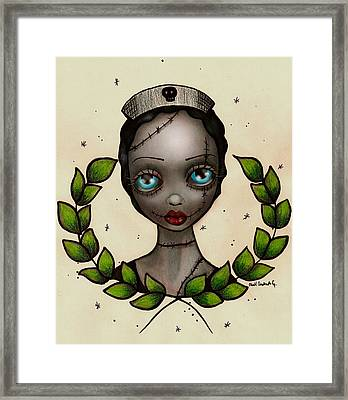 Zombie Nurse Framed Print by  Abril Andrade Griffith