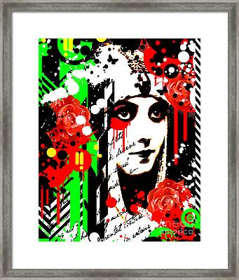 Zombie Queen Roses Framed Print by Chris Andruskiewicz