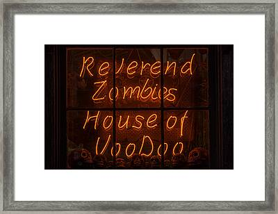 Zombies House Of Voodoo Framed Print