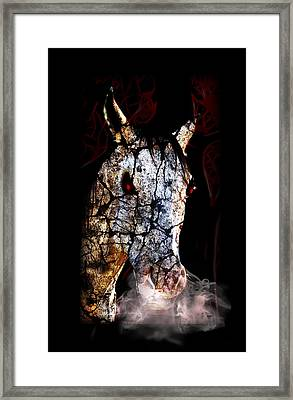 Zombified Horse Framed Print