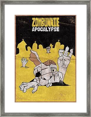 Zombunnie Apocalypse Framed Print