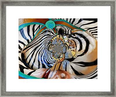 Zoo Animal Abstract Framed Print