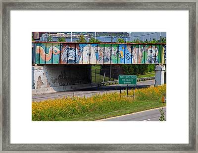 Framed Print featuring the photograph Zoo Mural by Michiale Schneider