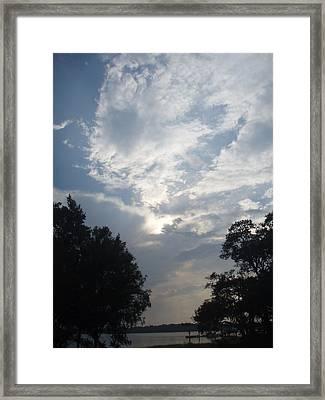 Zooey's Sky Framed Print by Jessica Breen