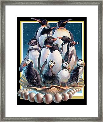 Zoofari Poster 2004 The Penguins Framed Print