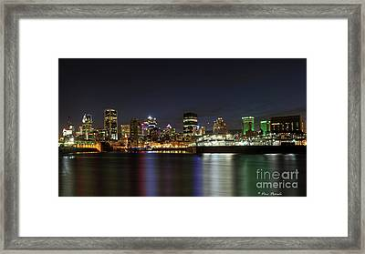 Zoom Montreal Framed Print