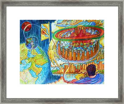 Zoom You Zoom Eye Framed Print by Richard  Hubal