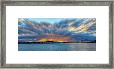 Zoomed Sunset Framed Print