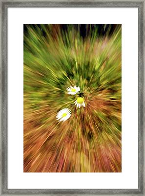Framed Print featuring the digital art Zooming In Or Zooming Out by James Steele