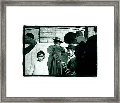 Zorro And Cat Girl Framed Print by Lynn Friedman