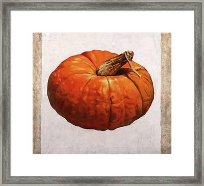 Zucca Borgogno Framed Print