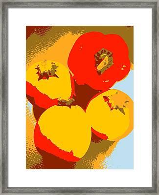 Zucchini And Bell Pepper Framed Print