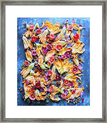 Zucchini Blossoms Season Framed Print