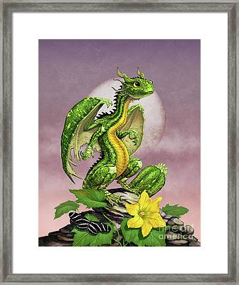 Zucchini Dragon Framed Print by Stanley Morrison
