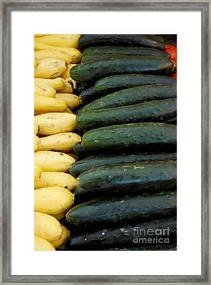 Zucchini On Display At Farmers Market 3 Framed Print
