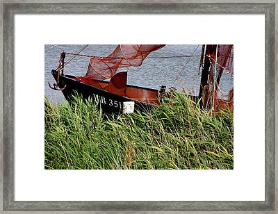 Framed Print featuring the photograph Zuiderzee Boat by KG Thienemann