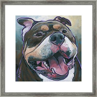 Zuki Framed Print by Nadi Spencer