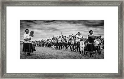 Zulu Dance Framed Print