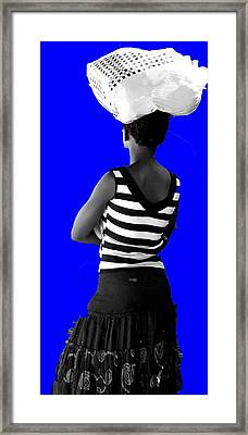 Zulu Girl In Durban Framed Print by Vijay Sharon Govender