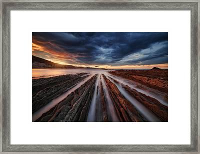 Zumaia Flysch 6 Framed Print