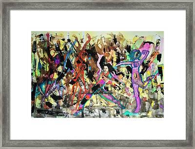 Zumba Framed Print