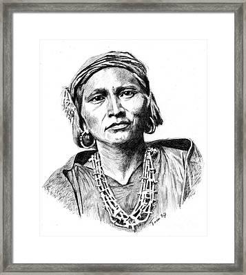 Zuni Governor Framed Print