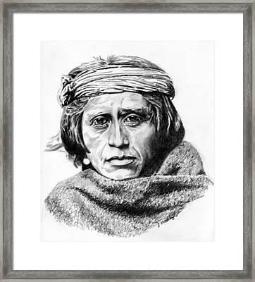 Zuni Man Framed Print