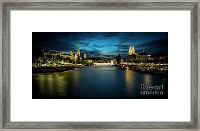 Zurich Night Framed Print