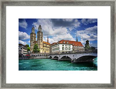 Zurich Old Town  Framed Print by Carol Japp